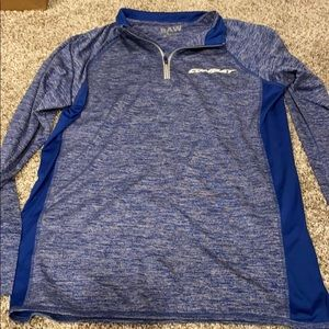 Blue long sleeve with a quarter zip